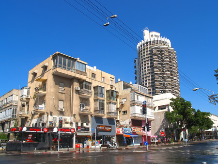 TEL AVIV, ISRAEL - OCTOBER 08, 2012: View of the high-rise building Dizengof Centr