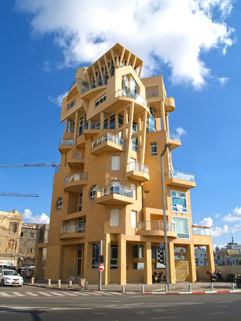 TEL AVIV, ISRAEL - OCTOBER 08, 2012: Modern building of original architecture