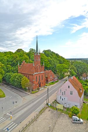 Birds-eye view on Saint Wojciechs church. Frombork, Poland