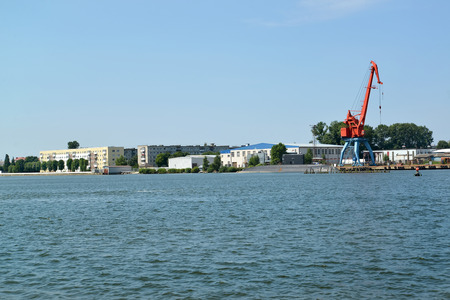 A view of the city Svetlyj from the Kaliningrad ship canal
