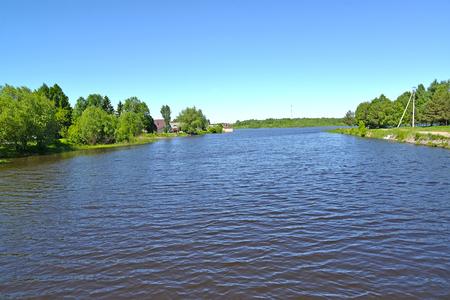 The Pertomka River on the outskirts of the city the Poshekhonje. Yaroslavl region