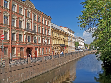 ST. PETERSBURG, RUSSIA - JULY 10, 2012: Embankment of Admiralteysky Canal