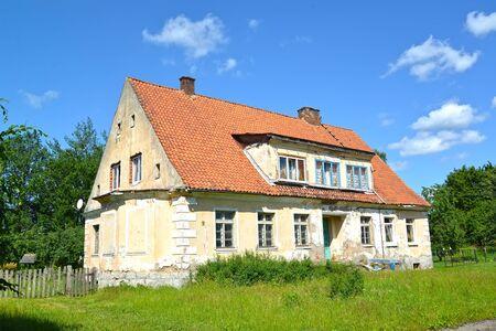 Former house of the pastor. Settlement of Sosnovka, Kaliningrad region