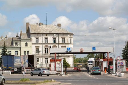 SOVETSK, RUSSIA - JULY 01, 2019: Border check-point and customs. Russian-Lithuanian border. Kaliningrad region