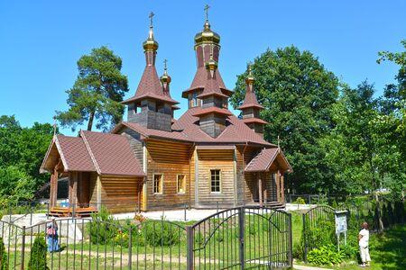 The temple in honor of St. Righteous John of Kronstadt. Slavsk, Kaliningrad region Stock Photo