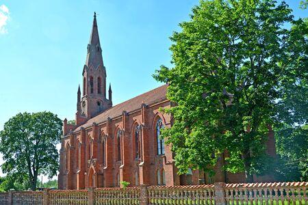 Haynrikhsvalde's Lutheran church (1869). Slavsk, Kaliningrad region Stock Photo