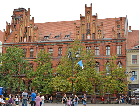 TORUN, POLAND - AUGUST 25, 2018: Post office building on the territory of the Old City