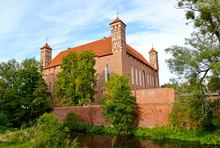 Bishop s Castle, surrounded by a moat with water. 14th century, Lidzbark-Varminsky. Poland
