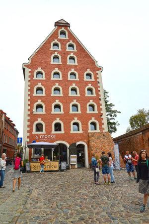 TORUN, POLAND - AUGUST 25, 2018: The building of the restaurant Monka Sajtókép