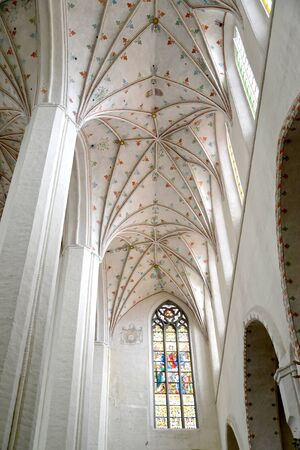 Vaults of the Cathedral of Saints John the Baptist and John the Evangelist. Torun, Poland