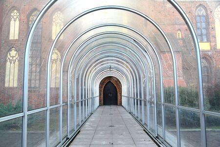 Ground transition gallery to the side entrance to Königsberg Cathedral. Kaliningrad