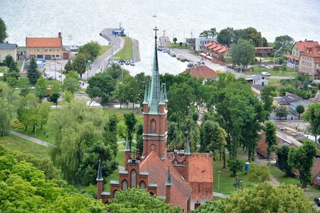 The view of Frombork with St. Wojciech s bone on the first plan. Poland Stock fotó