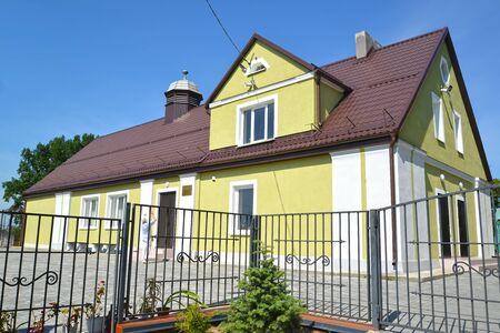 House of Culture in the village of Novostroevo. Kaliningrad region.