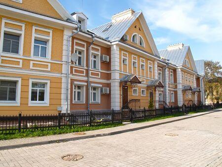 A modern townhouse in an area of elite development. Pskov
