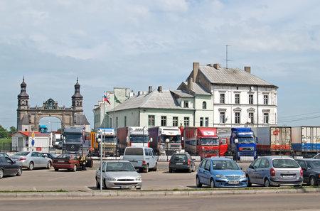 SOVETSK, RUSSIA - MAY 23, 2010: Border crossing and customs on the Russian-Lithuanian border. Kaliningrad region