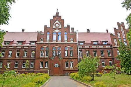 View of the building of the central city hospital (former House of the Poor, 1908). Sovetsk, Kaliningrad region