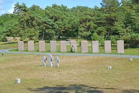 Memorial plates at the international cemetery of World War II. Baltiysk, Kaliningrad region