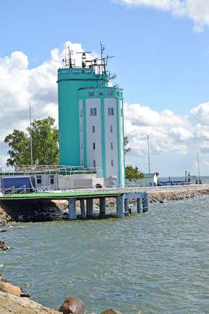 Pillau Pilot Tower (1936). Baltiysk, Kaliningrad region Stock Photo