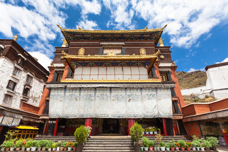 dalai: Tashilhunpo Monastery in Tibet Stock Photo