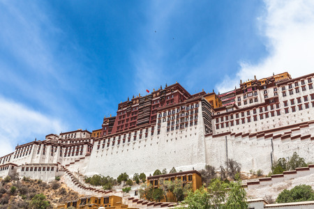gelugpa: On the feet of Potala Palace in Lhasa of Tibet, China
