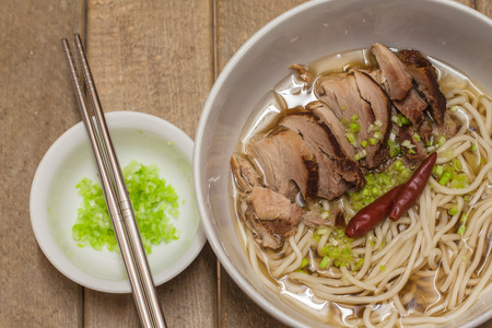 Chinese style noodle with stewed pork photo
