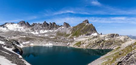 pizol: Panorama view of Wildsee (lake) near Pizol, Switzerland