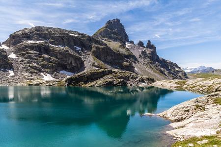 pizol: View of Schottensee (lake) near Pizol, Switzerland Stock Photo