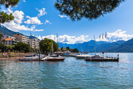 View on the lake siede of Locarno, Ticino, Switzerland photo