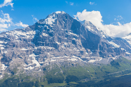 eiger: View of the famous north face of Eiger, Switzerland