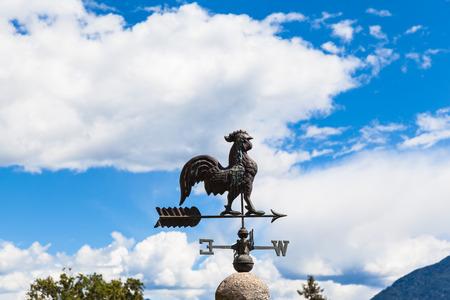 gusty: Metal made rooster wind vane