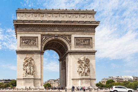 triumphe: Arc de Triomphe (Arch of Triumph) in Paris France