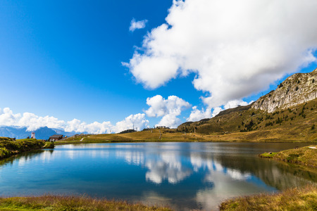 aletsch: Bettmersee (Lake) in Valais, Switzerland, near the famous Aletsch glacier