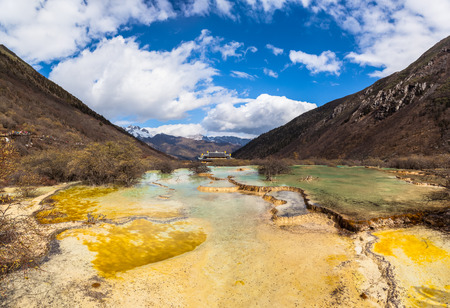 huang: Beautiful scenery in the Huanglong national park