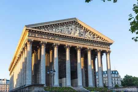 Madeleine Church (La Madeleine) in Paris, France