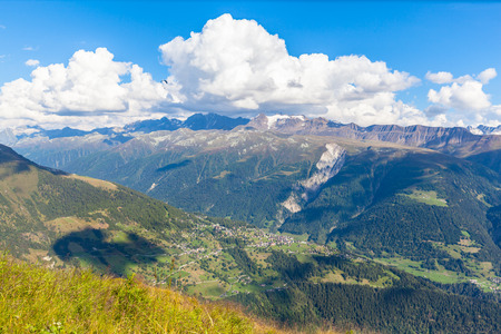 monch: Panorama view of the siwss alps in bernese oberland, Switzerland
