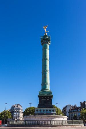 July Column in the center of Place de la Bastille in Paris, France