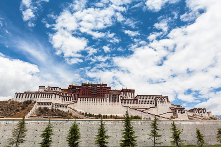 Stunning view of Potala Palace in Lhasa of Tibet, China