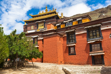gelugpa: Building in the Tashilhunpo Monastery, Shigatse, Tibet, China