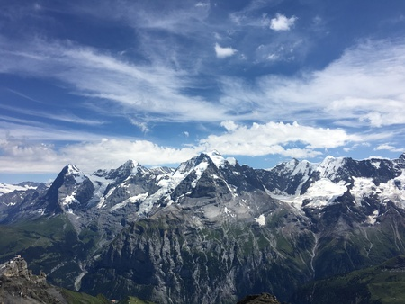 Panorama view of Bernese Alps from Schilthorn
