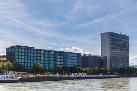 Basel, Switzerland - May 10, 2015 - Office building of the Swiss multinational pharmaceutical company Novartis.