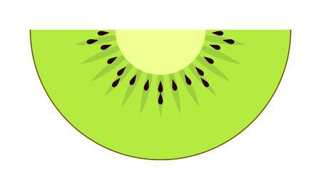 slice of kiwi fruit, green colors