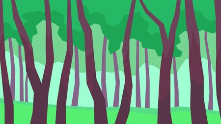 vector illustration abstract polygon landscape tree foliage forest at the day 矢量图片