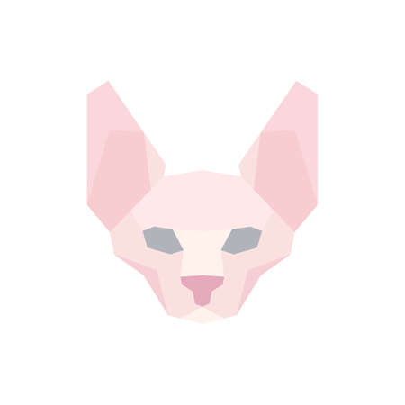 Low poly Sphinx head. Vector illustration