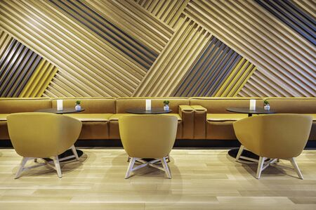 Eco design in a modern interior. Modern Interior. Wooden wall. The interiors use natural and eco materials that can fill the room with heat. Wood is a great material for adding warmth to spaces and for making them feel cozy and welcoming, all without minimizing their elegance.