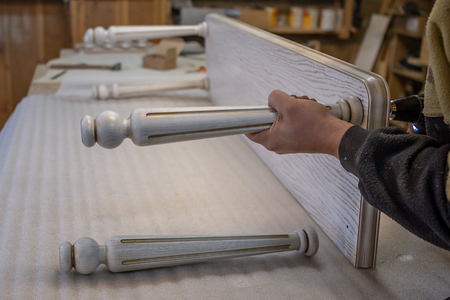 Making furniture from wood. Work carpenter. Carpentry tools. Carpentry workshop