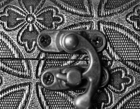 Gold-plated, antique, gothic ornament. Ancient art Close-up Background