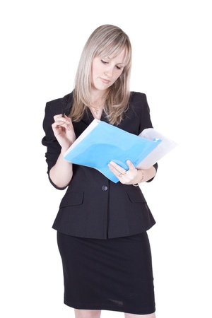 businesswoman with a folder photo