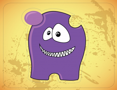 Cute little smiling monster Stock Vector - 16893802