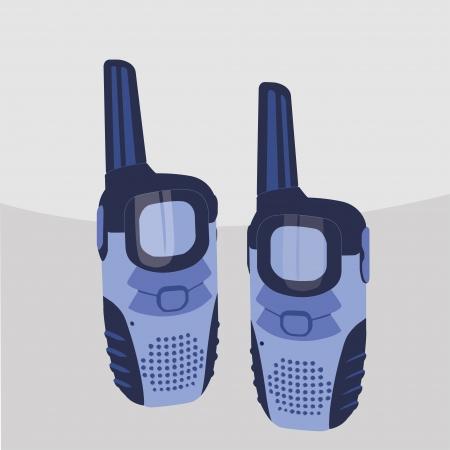 portable radio: Pair of portable radio sets