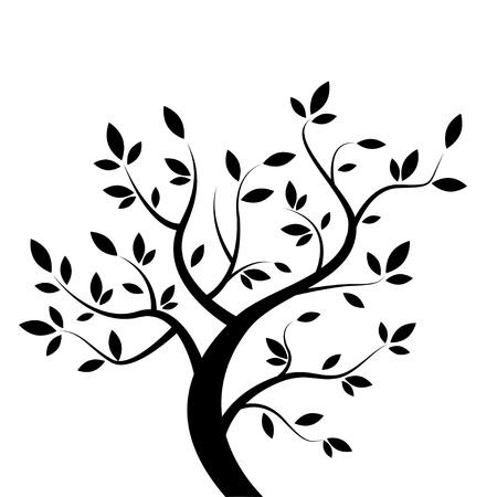 genealogical tree: black tree Illustration